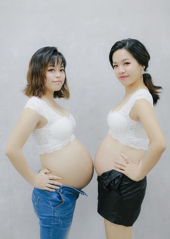 《孕婦寫真》閨蜜姐妹孕婦寫真 / 台北