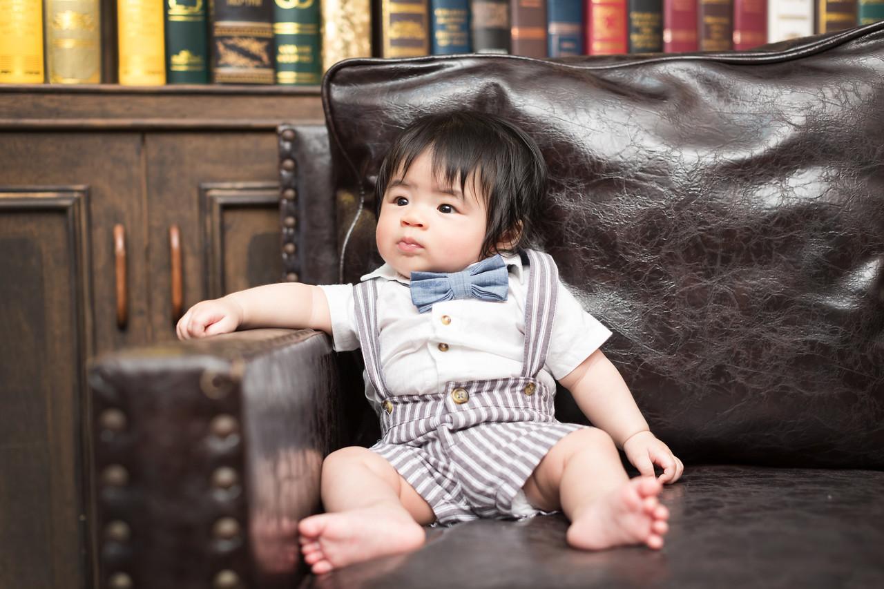 《新生兒嬰兒寫真攝影》濃眉大眼的BABY-IAN/ 台中推薦