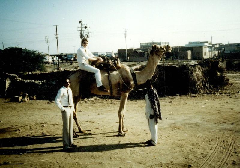 Jay Weiker (on camel)