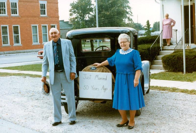 John Gilette Pontius and Mildred Pontius 50th wedding anniversary