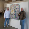 2. the installers of the show and incredibly ardent admirers of the work in front of my piece Canning Peaches