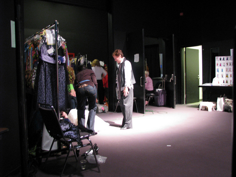 1. Bernina Fashion show back stage