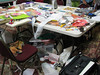 Here is a typical work area for one of Sue's students