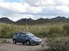 my rental car in Saguaro Preserve