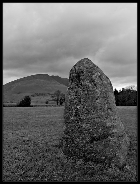 Castlerigg Stone Circle, Cumbria. Blencathra in the background.