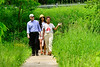 U.S. Congressman Peter Welch (Vt-D) talks with Amber Arnold and Naomi DoeMoody, founders of SUSU CommUNITY Farm, in Brattleboro, Vt., during a visit on Friday, June 4, 2021. SUSU CommUNITY Farm is a BIPOC-led community farm that offers access to safe and affirming food.