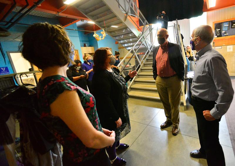 U.S. Congressman Peter Welch (Vt-D) makes a visit to Brattleboro, Vt., on Friday, June 4, 2021.