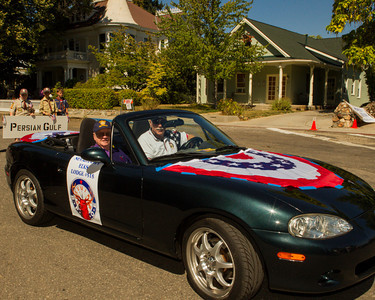 Steve Woolsey from Nevada City Elks in his Mazda.