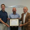 This morning Champe visited Signals Defense to present them with their Maryland AGC Membership Certificate.