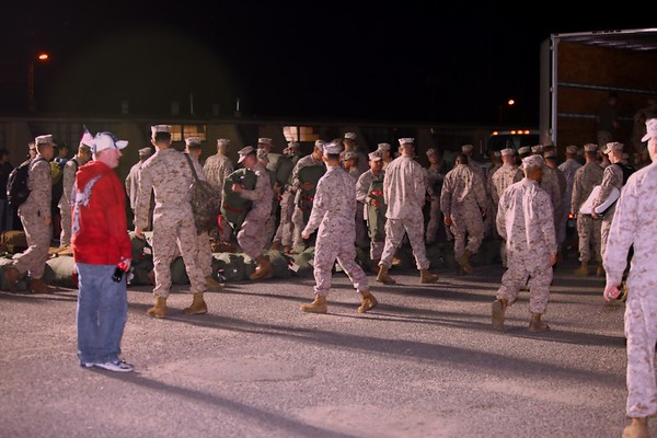 Homecoming for our Heroes from 1/4 Camp Pendleton CA
