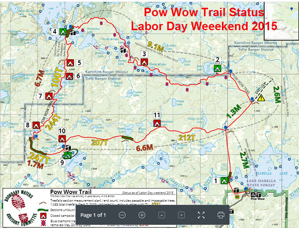 Pow Wow Trail pictorial map (November 2015 printing)