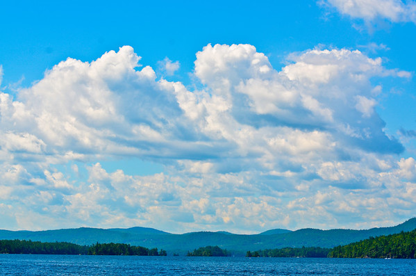 Lake George NY, looking at the Narrows Islands from a boat