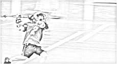 A picture I took two years ago of Zack shooting on an indoor goal.  I manipulated it this year into a sketch and sent it around to all the U9 Lacrosse families in my town - hence I include it on this group of 2010 pictures.