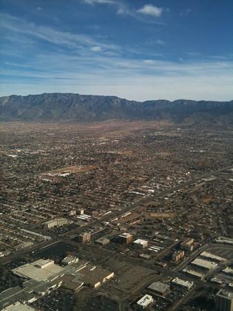 Scene as I flew into Albuquerque, New Mexico
