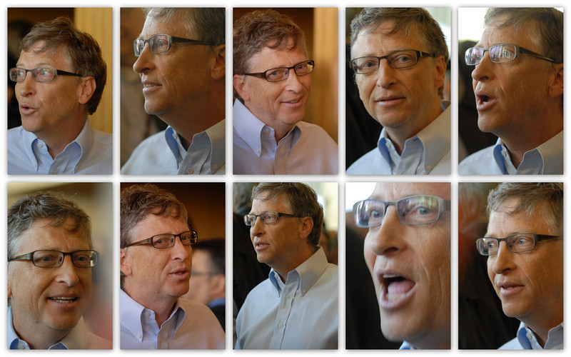 Bill Gates talking about energy issues.  There were about 10 of us around him.