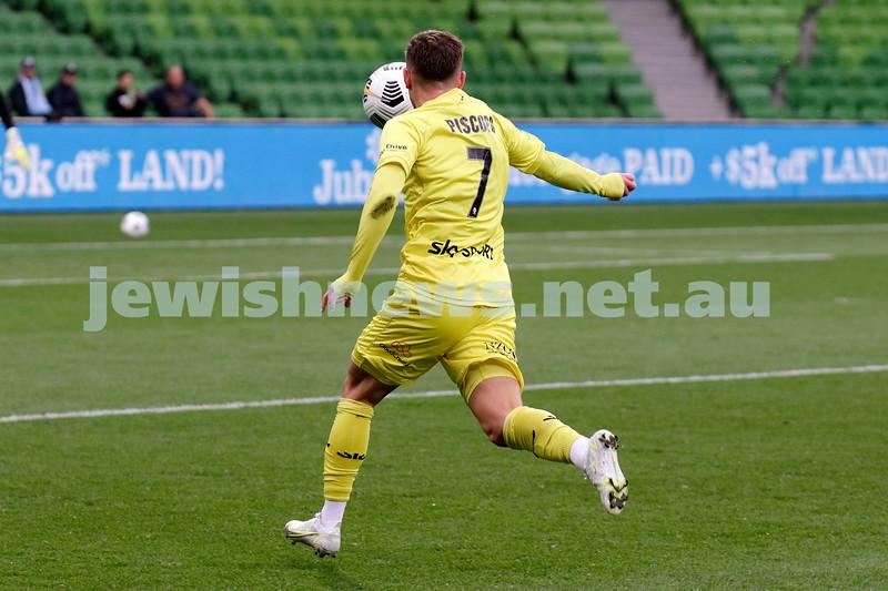 16-5-21. Tomer Hemed. Wellington Phoenix drew with Melbourne City 2 - 2 at AAMI Park. Photo: Peter Haskin