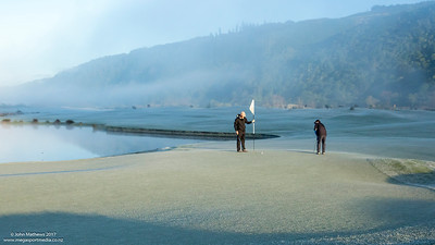 Images capured in the early morning fog on a frosty mornng at Royal Wellington Golf Club, Heretaunga, Wellington, New Zealand on Sunday, 16 July 2017. Copyright: John Mathews 2017.  www.megasportmedia.co.nz