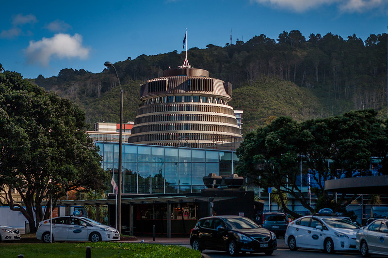 "The ""bee-hive"" Parliament building, Wellington, New Zealand"