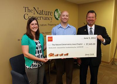 Nature Conservancy Check Presentation  6/5/2014