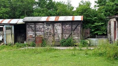Unknown GWR 12t Vent Van Plank, South side of minor road, A4064, Llangeinar, Bridgend    15/06/14