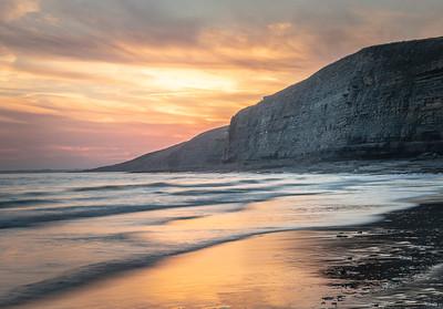 Sunset along the heritage coast