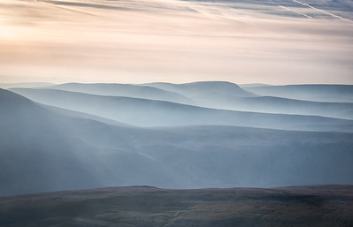 Evening sun over the Brecon Beacons