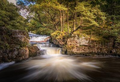 Waterfalls on the Elidir trail, Brecon Beacons