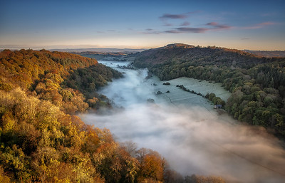 Misty Morning in the Wye Valley