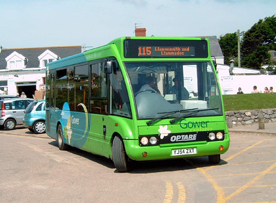 YJ54ZXT - Port Eynon - 2.8.07  Actually in service with Veolia in this image on Gower Explorer routes