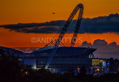 Wembley Stadium Sunset