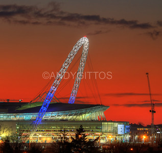 Tottenham Wembley Arch Sunset