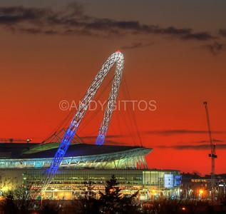 Tottenham Wembley Arch Sunset