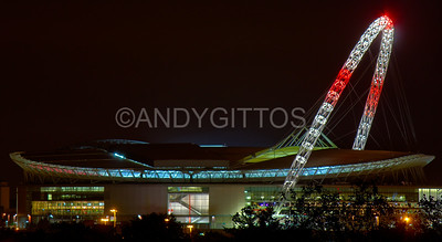 England Flag Wembley Stadium Arch