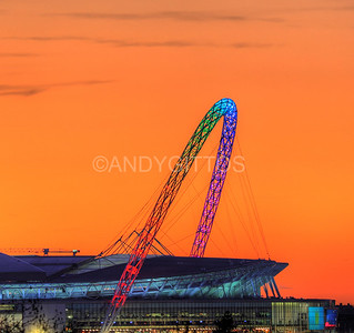 Rainbow Wembley Arch Sunset
