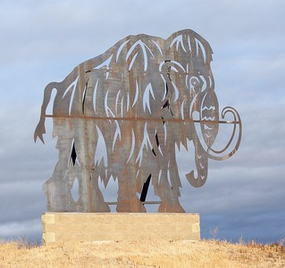 Mammoth sculpture near the entrance