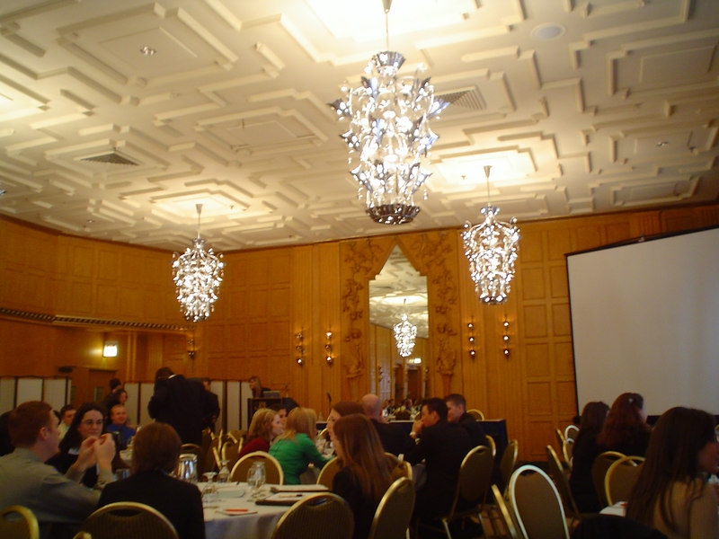 The banquet hall in the Hotel Allegro
