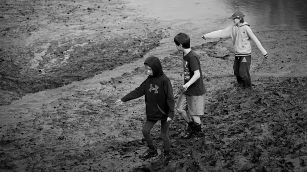 The kids lend a hand ...