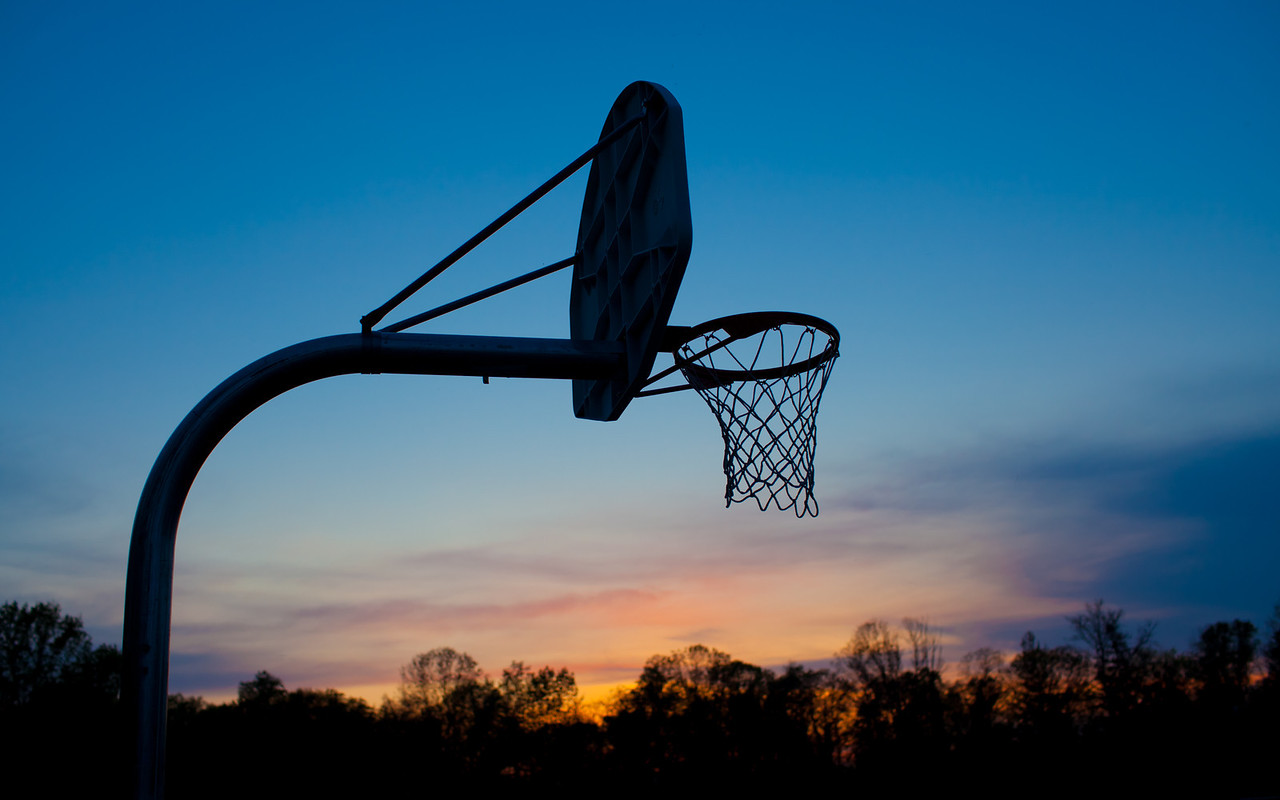 Kevin Mullin Court at sunset, Wenonah, New Jersey