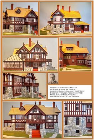 Biggerstaff-Wilson House Model Poster - Victoria, Vancouver Island, British Columbia, Canada - poster design MO