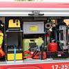 """""""Brambulance"""" Regio Rotterdam<br /> Roepnummer: EH90-1 (brandweer) / 17-355 (ambulance)<br /> Type: combivoertuig brandweer / ambulance<br /> Kenteken: 9-VVR-16<br /> Merk: Isuzu TFS85 D-MAX 4x4<br /> Opbouw: Gemco<br /> Bouwjaar: 2012 <br /> Bemanning: brandweerman en een verpleegkundige<br /> Tank: 300 liter water<br /> Opm.: ombouw i.v.m. proefproject in 2014 (proef vanaf 16 juli 2014 tot 1 okt. 2914)<br /> Standplaats: kazerne Maassluis"""
