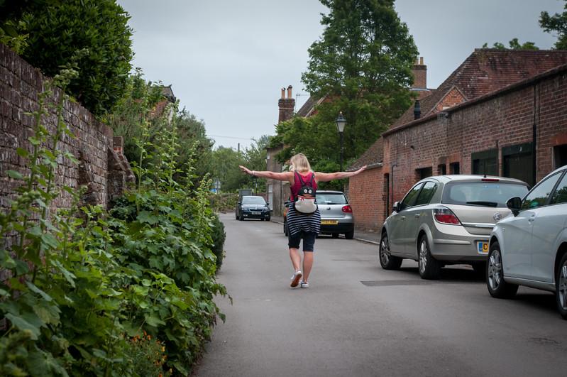 Road near Salisbury Cathedral.