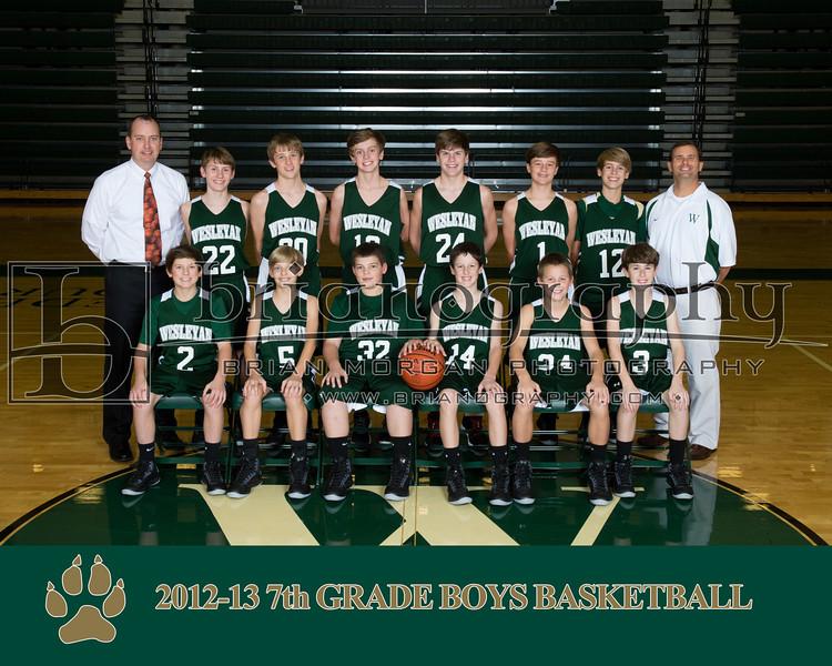 2012-13 7th Grade Boys Basketball