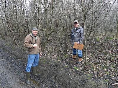 WBFN members inspecting a deer run , in Area 4 (Photo by Don McLeod)