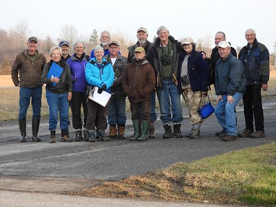 WBFN members gathered outside OPG building after tallying the bird count for the day , in Area 4 (Photo by Don McLeod)