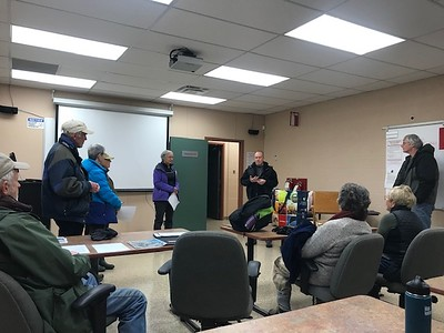 WBFN members getting organized for bird count, in Area 1 (Photo by Jennifer Jackman)
