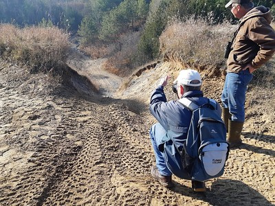 Erosion due to ORV , in Area 4 (Photo by Frank Godfrey)