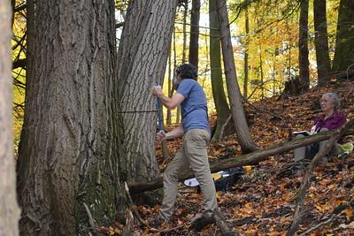 15 Mike taking sample Red Oak