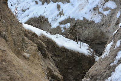 Accelerated erosion, in Area 4 (Photo by Jennifer Jackman)