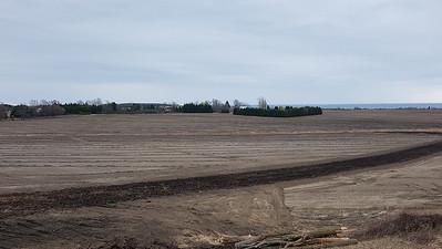 Wesleyville Creek Northeast branch (mid photo) east of Wesleyville Road crossing field. , in Area 3 (Photo by Gerry McKenna)