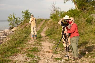 Birding group for Area 1 - Richard Pope, Elizabeth Kellogg, Margaret Bain, Gerry McKenna (not in photo). , in Area 1 (Photo by Gerry McKenna)